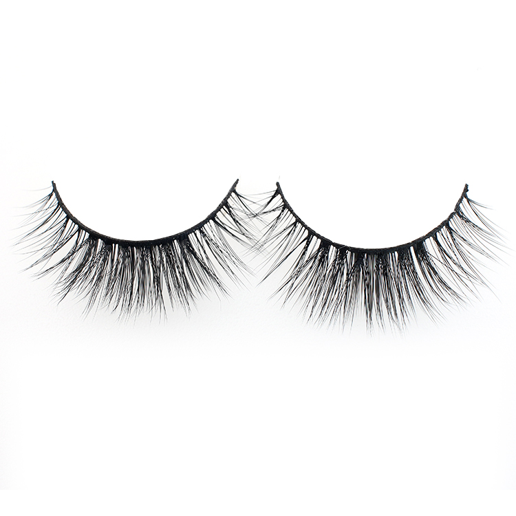 Distributors supply own brand synthetic 3D faux mink strip lashes with private label