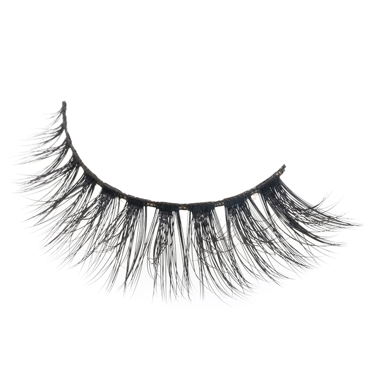 Distributor wholesale own brand logo design high quality 3D faux mink strip lashes
