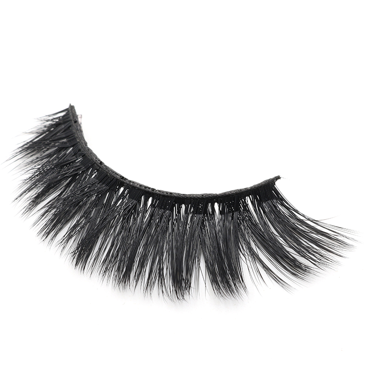 Synthetic faux mink false eye lashes with private label eyelash packaging box