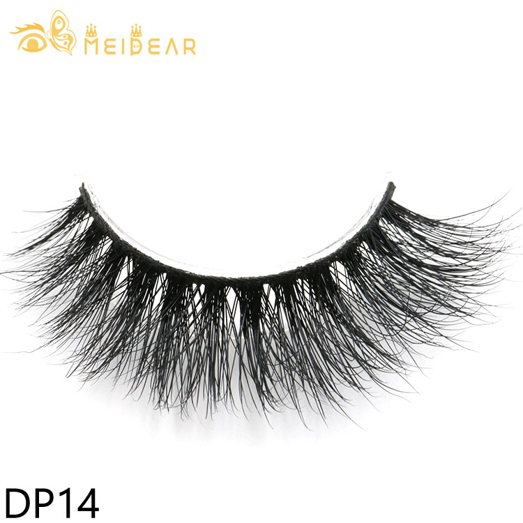 Private label 3D mink false eyelashes with own brand packaging box