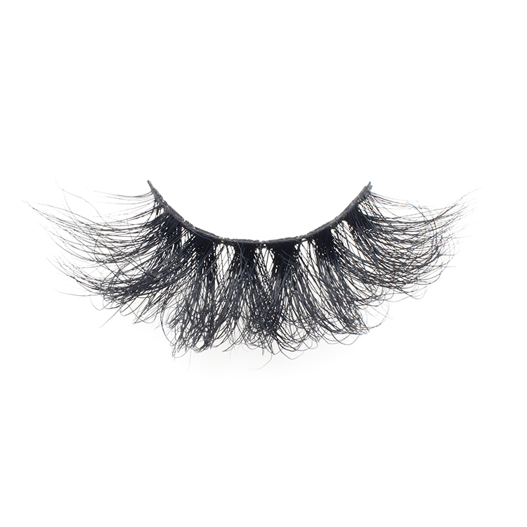 Eyelash vendor wholesale siberian 25mm mink fur strip 3d eyelashes