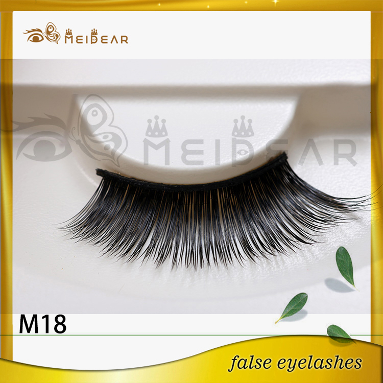 Wholesale natural looking mink strip eyelashes with custom logo packaging