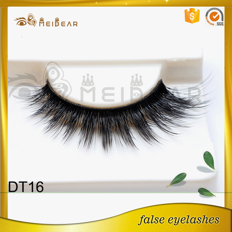 Professional factory supply faux mink eyelash with box logo design