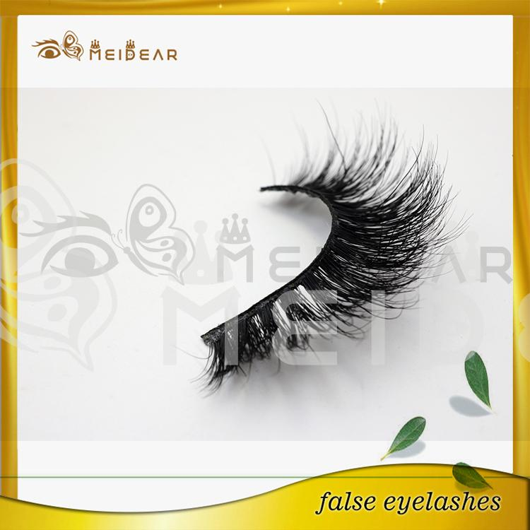 Hand made high quality 3D mink eyelashes supply in indonesia