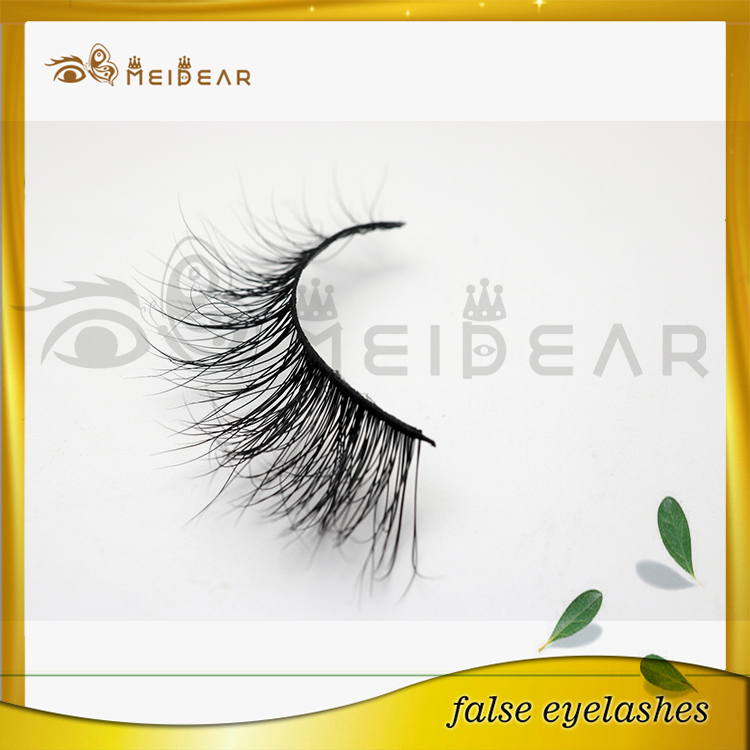 Private labeling short to long real Sibeiran mink lashes 3d