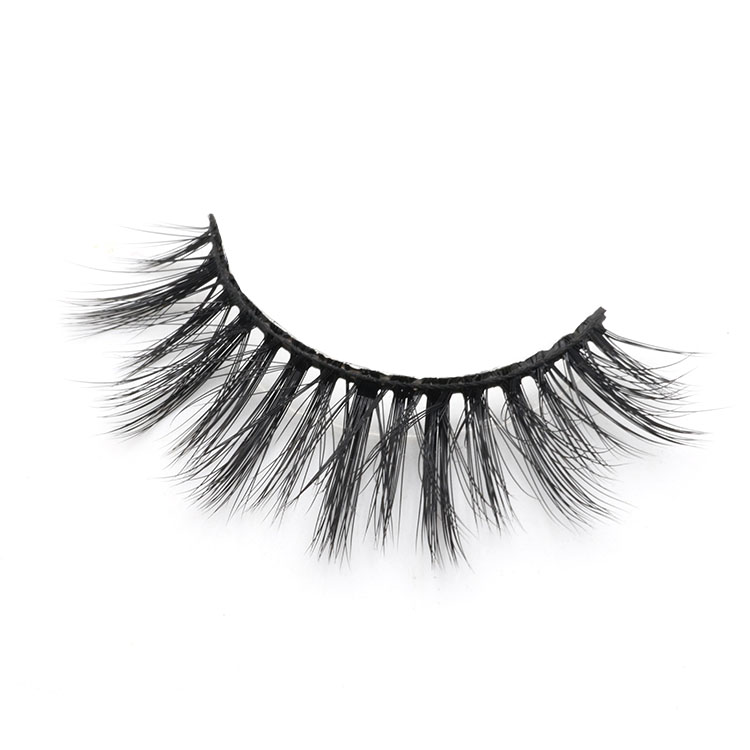 Strip false eyelashes 3d faux mink velour lashes with private label package