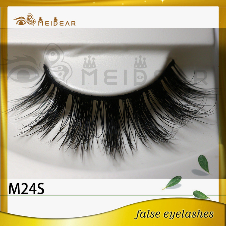 False eyelash factory supply real natural looking mink eyelashes