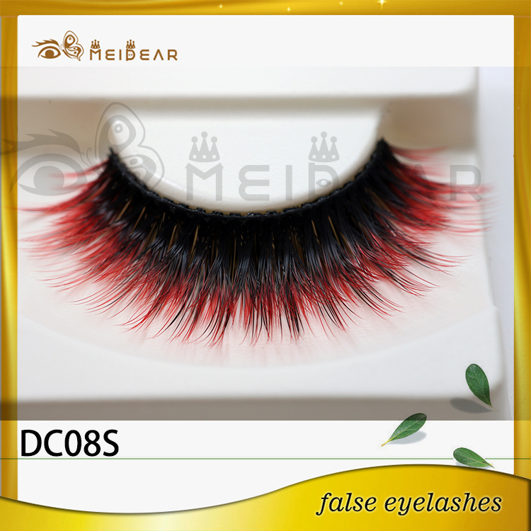 New arrival logo printed beautier colorful faux mink eyelashes