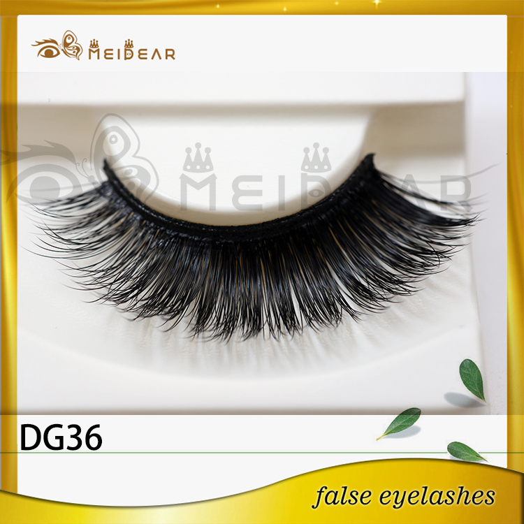 Distribute hot selling natural looking 3d faux mink eyelashes