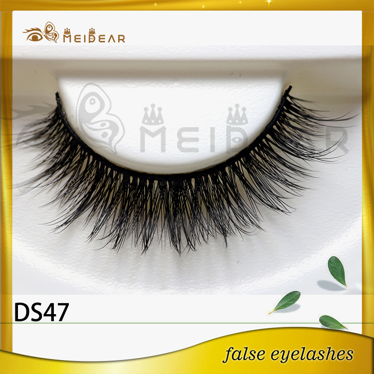Factory wholesale OEM private label diamond  3D silk eye lashes