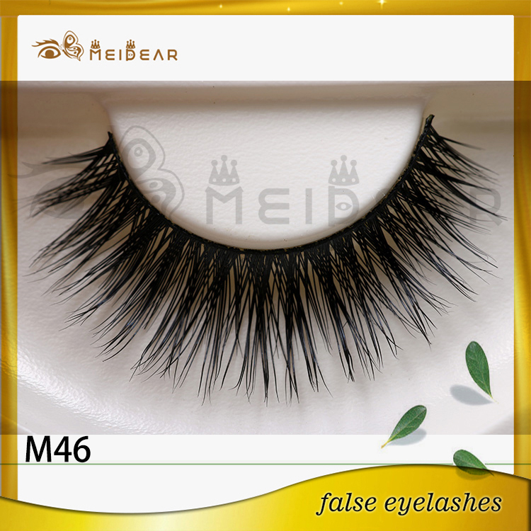 Wholesale supply mink strip eyelash with private label