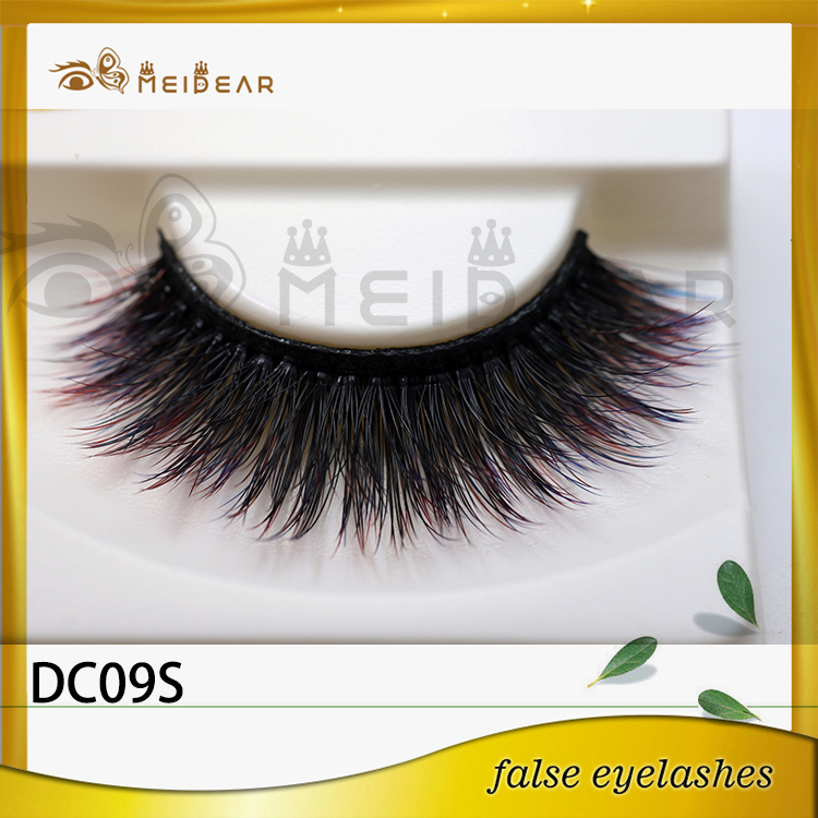 Distributor supply hot sell magic girl colorful 3d faux mink eyelashes