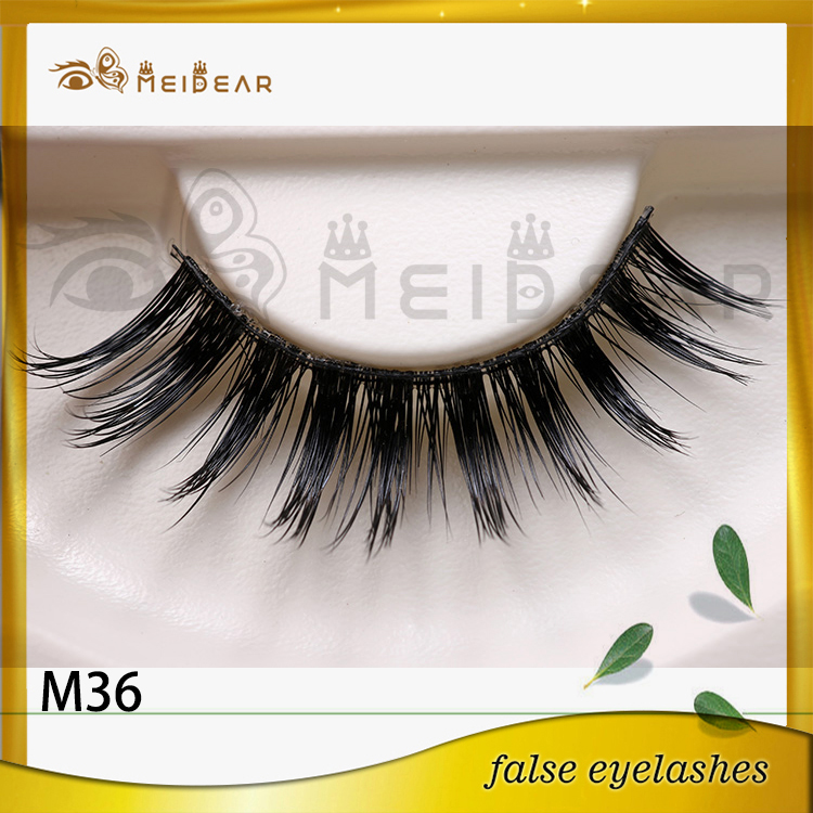 Siberian mink lashes with custom packaging box