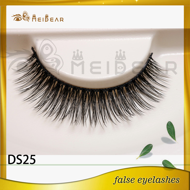 Factory supply korean eyelash  3d silk eyelashes with logo design