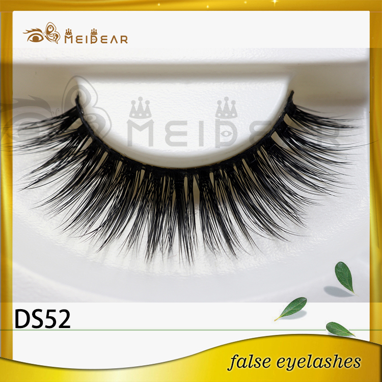 Wholesale glamorous eye lashes own brand 3d  silk eyelashes