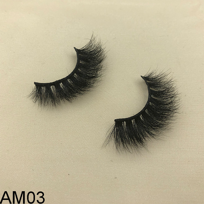 Custom false eyelash packaging box for high quality 3D mink lashes
