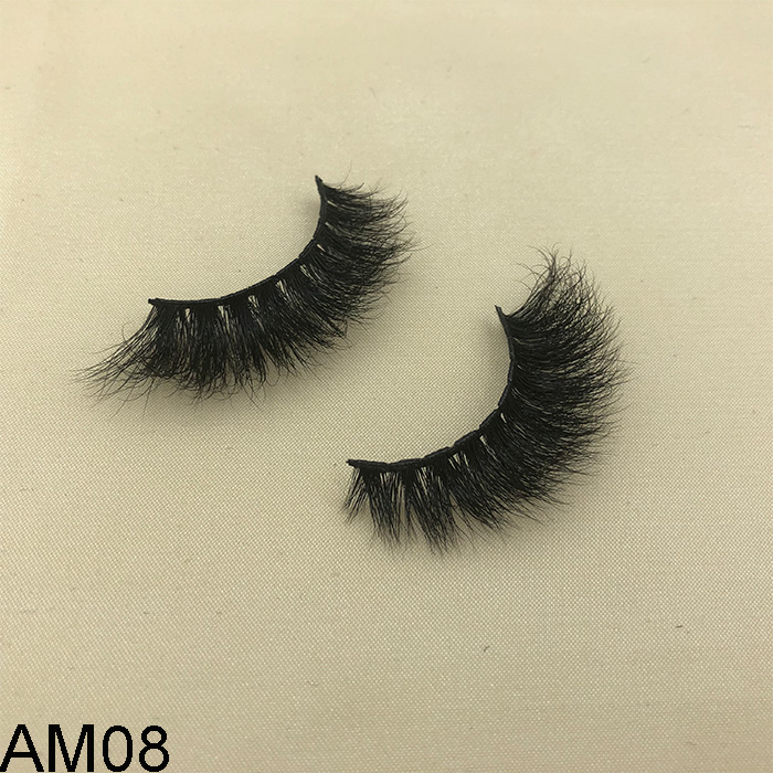 Own brand 3D mink eyelashes with private label box supply to USA market