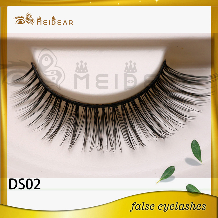 Factory supply private label custom package fiber 3d silk lashes
