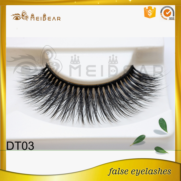 Natural looking hand made 3D faux mink eyelash from factory USA