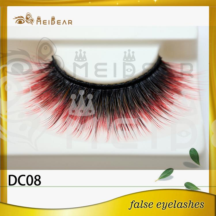 Factory wholesale private label logo colorful faux mink eyelashes