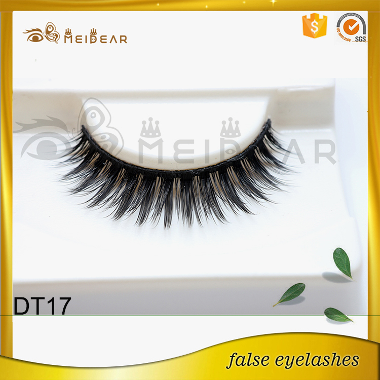 High quality handmade faux mink eyelash with packaging logo design
