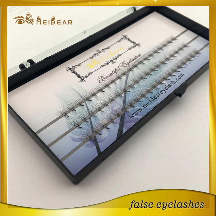 Manufacturer supply pre-fanned volume individual lash extension with private label