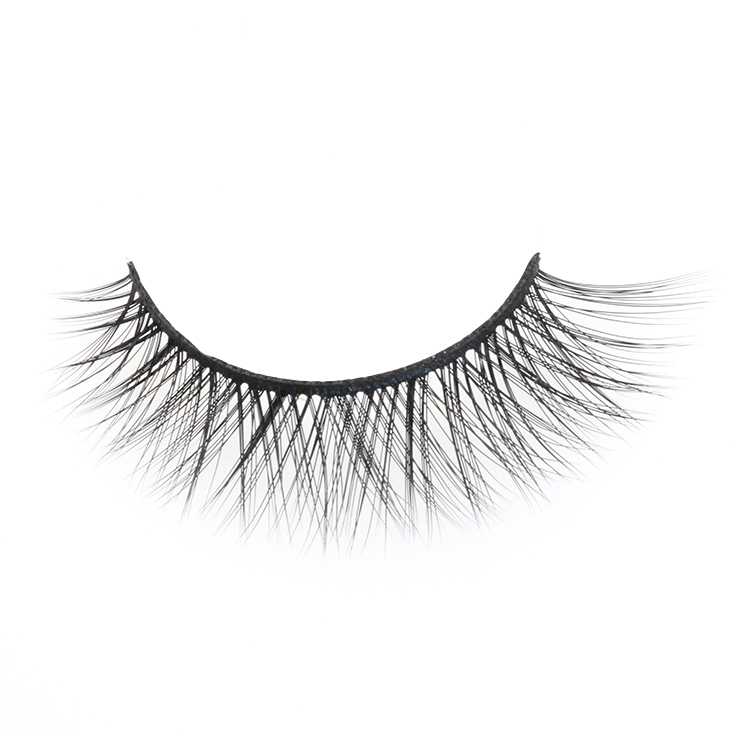 Private label best synthetic 3D silk eyelashes with own brand packaging