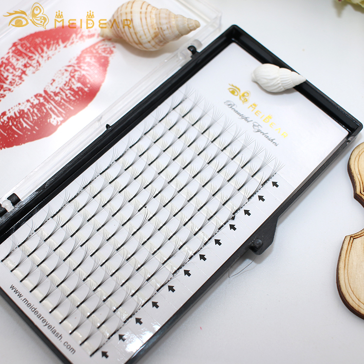 Wholesale handmade premade fans volume eyelash extension with private label