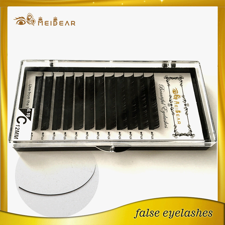 Manufacturer supply korean real mink eyelash extensions with custom package