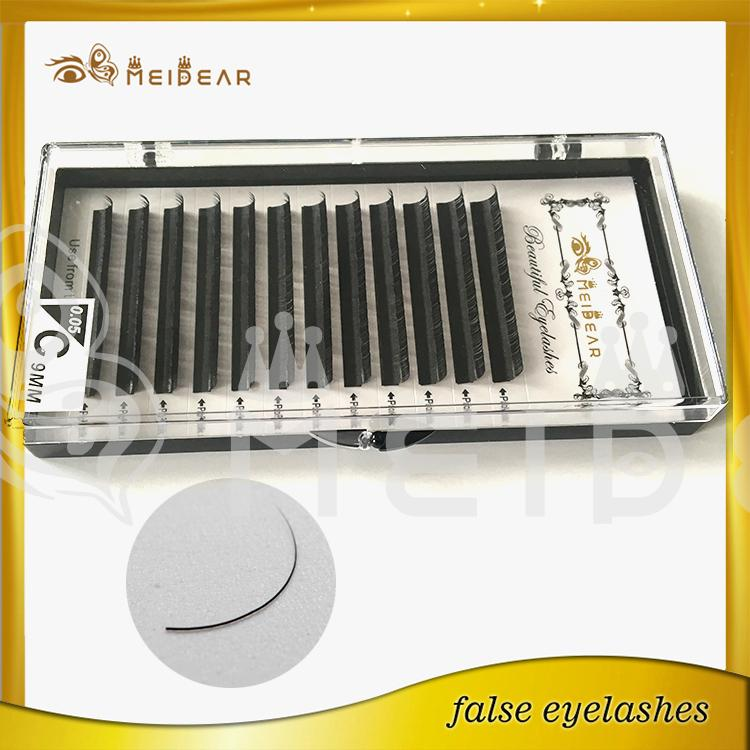 Factory supply the most natural silk eyelashes extensions