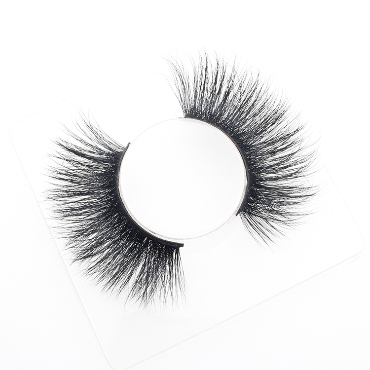Eyelash vendor wholesale 25mm Siberian real mink 3D strip eyelash with custom packaging to USA