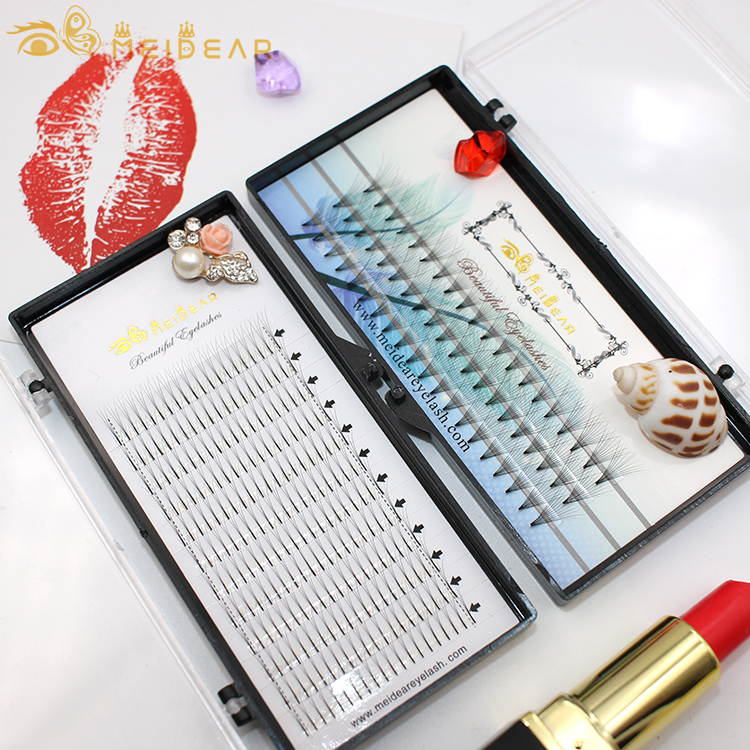 Distributor supply own brand premade fans volume eyelash extension thickness 0.05 0.10 0.15mm
