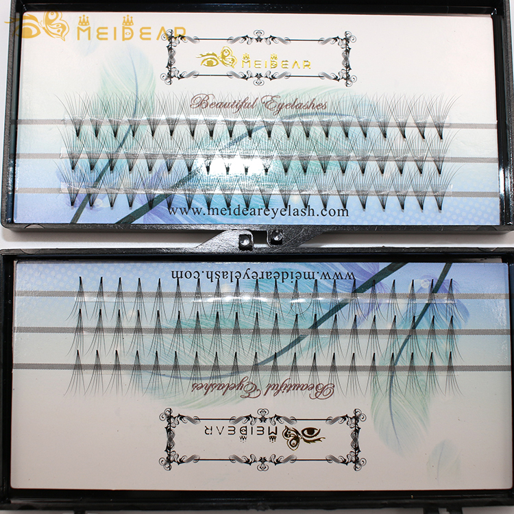 Meidear supply lightweight and comfortable pre-fanned volume eyelash extensions