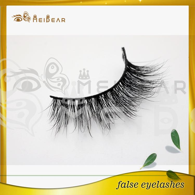 Wholesale natural looking 3D mink eyelashes with custom logo packaging