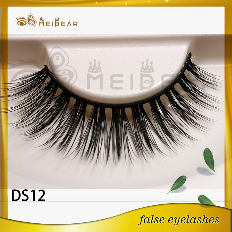 Top Quality Natural Looking 3D Silk Fur Eye Lashes