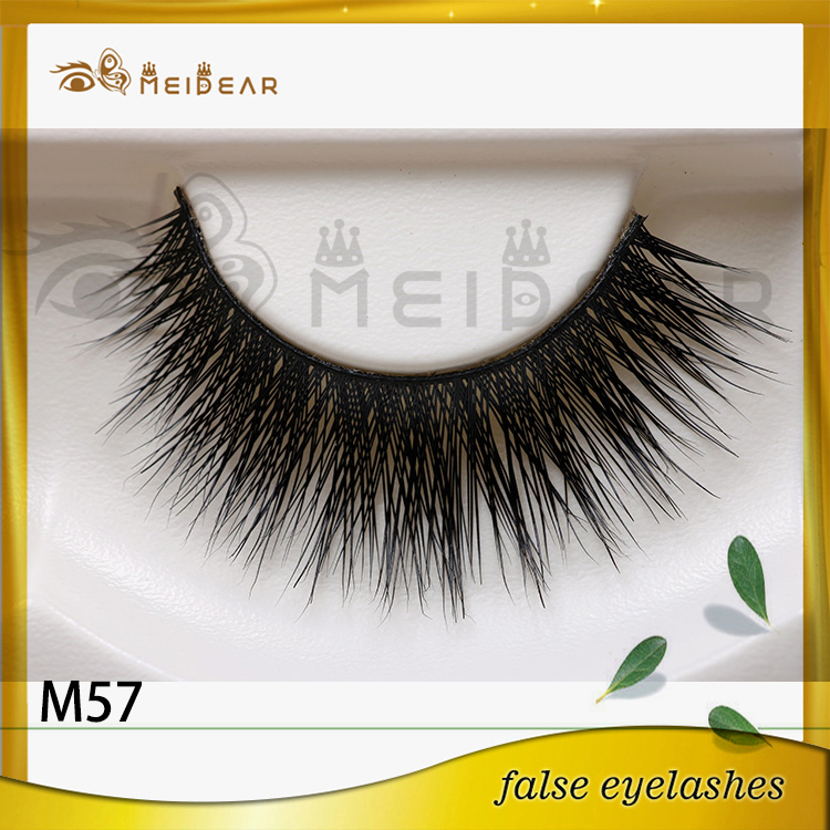 Top Quality Private Label Natural Looking  Real Mink Fur Eye Lashes