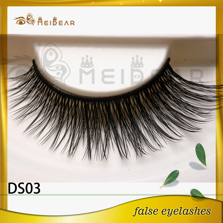 Private label custom package silk eyelashes 3d silk lashes