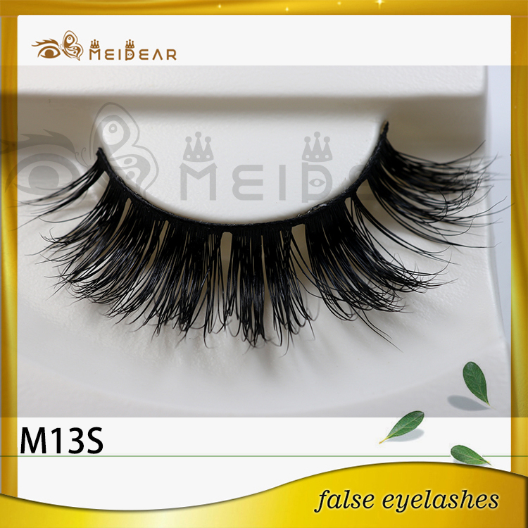 Wholesale dramatic mink strip eyelashes with custom pacakging box