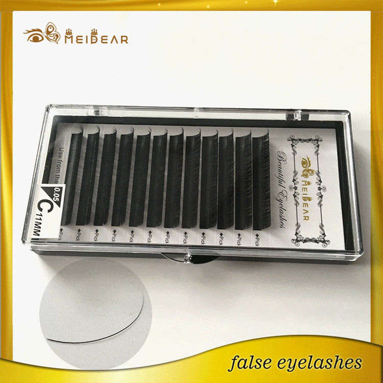 Private label hand made individual mink eyelashes extension usa