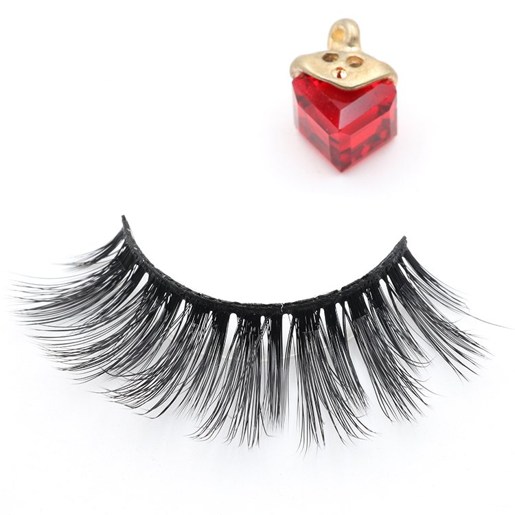 Eyelash manufacturer supply custom brand 3D faux mink false eye lash with private label packaging