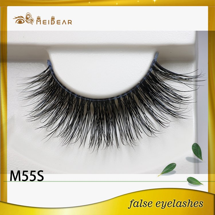 Factory supply real natural looking mink eyelashes and private label service