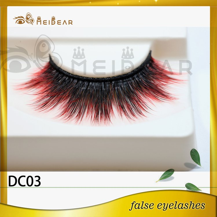 Factory wholesale private label logo colored faux mink eyelashes