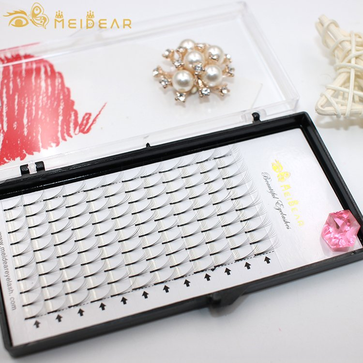 Manufacturer supply custom packaging for gorgeous premade volume eyelash extensions