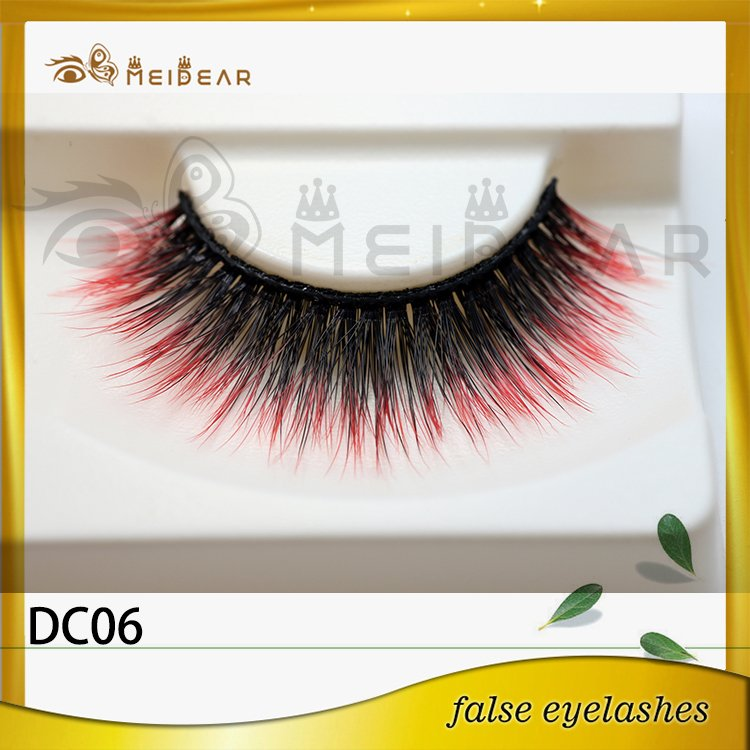 Wholesale price high quality colored faux eyelashes made in indonesia