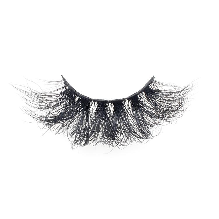 Eyelash vendor wholesale siberian 25mm mink fur strip 3d eyelashes