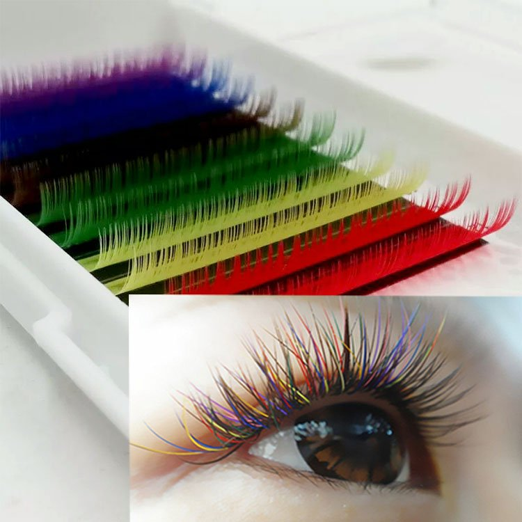 Eyelash manufacturers vendors wholesale dramatic colored lash extensions to UK