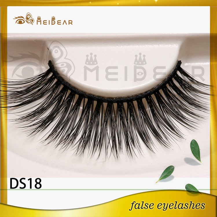 Factory supply private label 3d silk eye lashes