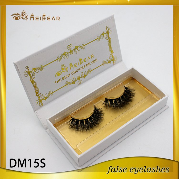 OEM middle volume real Siberian mink lash 3d mink eyelashes